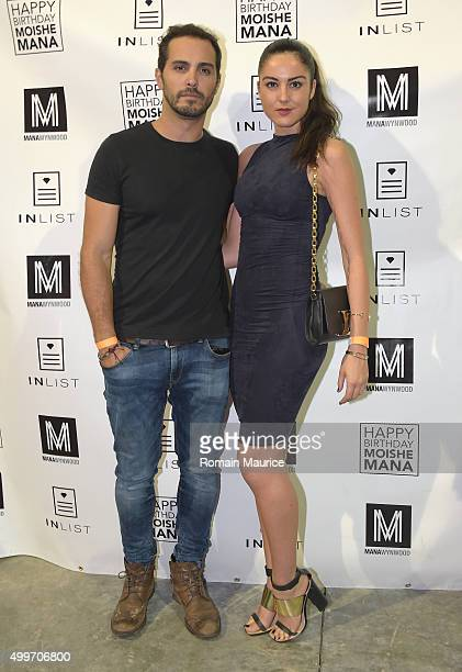 Ivan Abuchaive and Eva D attends InList 1 Year Anniversary and Moishe Mana Birthday at Mana Wynwood on December 2 2015 in Miami Florida