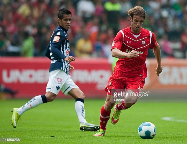 Ivan Alonso of Toluca during a match between Toluca and Monterrey as part of the Torneo Clausura 2012 at Nemesion Diez Stadium on March 17 2012 in...