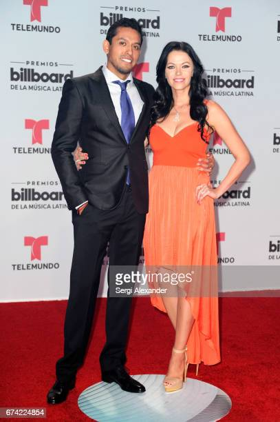 Ivan and Simona Aguilera attend the Billboard Latin Music Awards at Watsco Center on April 27 2017 in Coral Gables Florida