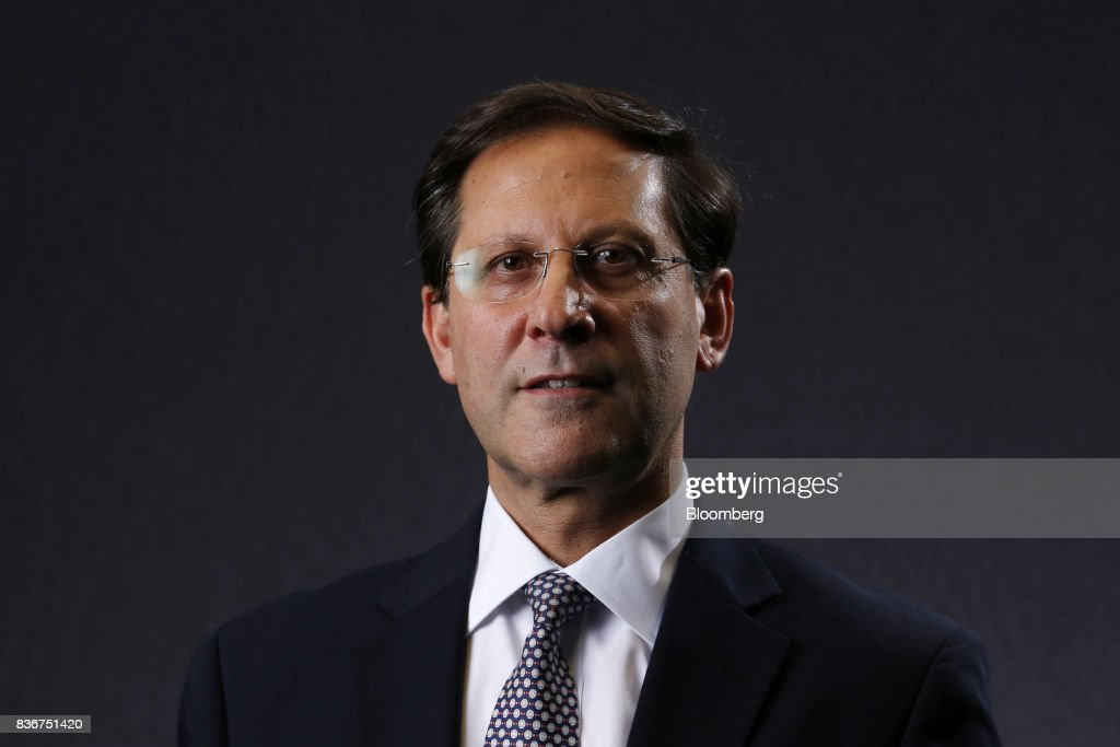 Ivan Arriagada, chief executive officer of Antofagasta Plc, poses for a photograph following a Bloomberg Television interview in London, U.K., on Tuesday, Aug. 22, 2017. Antofagasta sees it full year copper production at 685,000-720,000 tons. Photographer: Luke MacGregor/Bloomberg via Getty Images