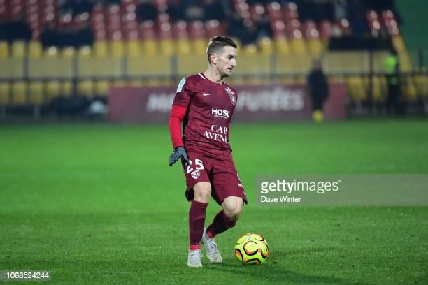 Ivan Balliu of Metz during the Ligue 2 match between FC Metz and Red Star FC on December 4 2018 in Metz France