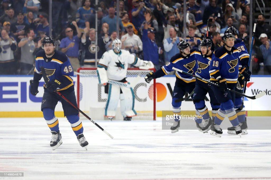 San Jose Sharks v St Louis Blues - Game Four : News Photo