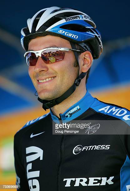 Ivan Basso of Italy riding for Discovery Channel Pro Cycling Team prepares to race Stage 1 of the AMGEN Tour of California on February 19, 2007 in...