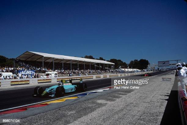 Ivan Capelli Alain Prost Leyton HouseJudd CG901 Ferrari 641 Grand Prix of France Circuit Paul Ricard 08 July 1990