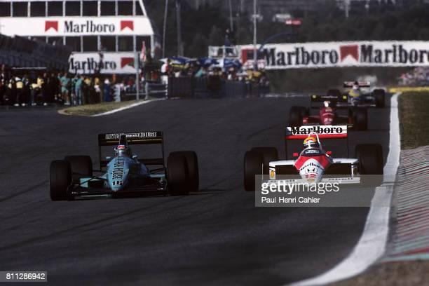 Ivan Capelli, Ayrton Senna, Grand Prix of Portugal, Estoril, 25 September 1988.
