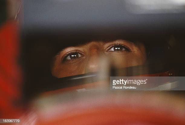 Ivan Capelli of Italy, driver of the Scuderia Ferrari SpA Ferrari F92A Ferrari V12 during practice for the Mexican Grand Prix on 21st March 1992 at...