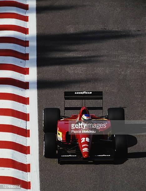 Ivan Capelli of Italy drives the Scuderia Ferrari SpA Ferrari F92A during the Belgian Grand Prix on 30th August 1992 at the Circuit de...