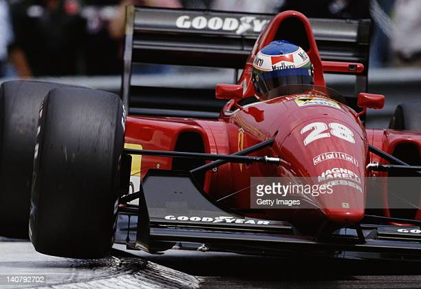 Ivan Capelli of Italy drives the Scuderia Ferrari SpA Ferrari F92A during the Grand Prix of Monaco on 31st May 1992 on the streets of the...