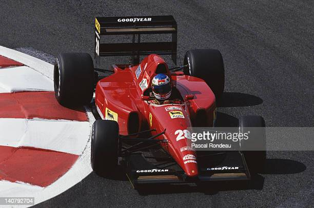 Ivan Capelli of Italy drives the Scuderia Ferrari SpA Ferrari F92A during practice for the French Grand Prix on 4th July 1992 at the Circuit de...