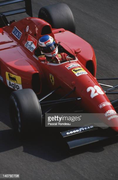 Ivan Capelli of Italy drives the Scuderia Ferrari SpA Ferrari F92A during the Coca Cola Italian Grand Prix on 13th September 1992 at the Autodromo...