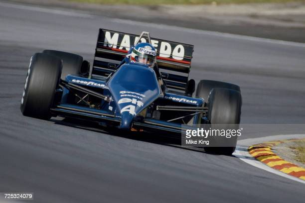 Ivan Capelli of Italy drives the Tyrrell Racing Organisation Tyrrell 014 Renault V6 turbo during the Shell Oils Grand Prix of Europe on 6 October...