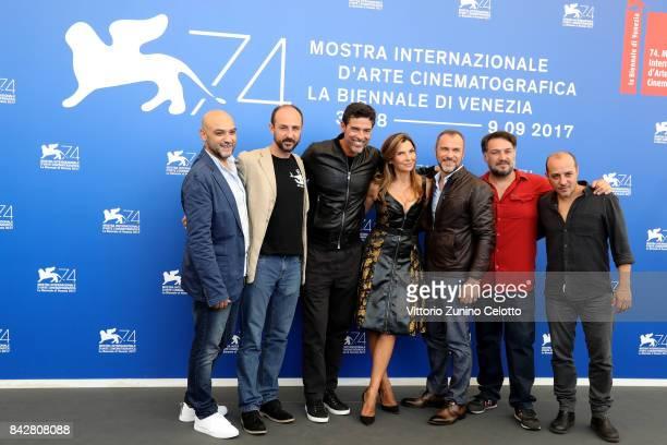 Ivan Cappiello Alessandro Rak Alessandro Gassmann Maria Pia Calzone Massimiliano Gallo Marino Guarnieri and Dario Sansone attend the 'Gatta...