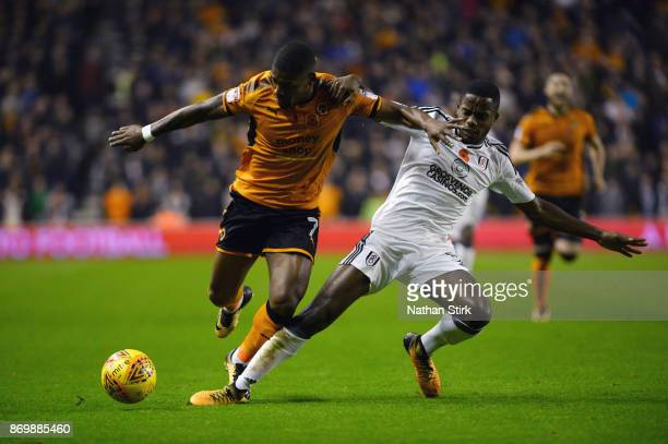 Ivan Cavaleiro of Wolverhampton Wanderers and Ryan Sessegnon of Fulham in action during the Sky Bet Championship match between Wolverhampton and...