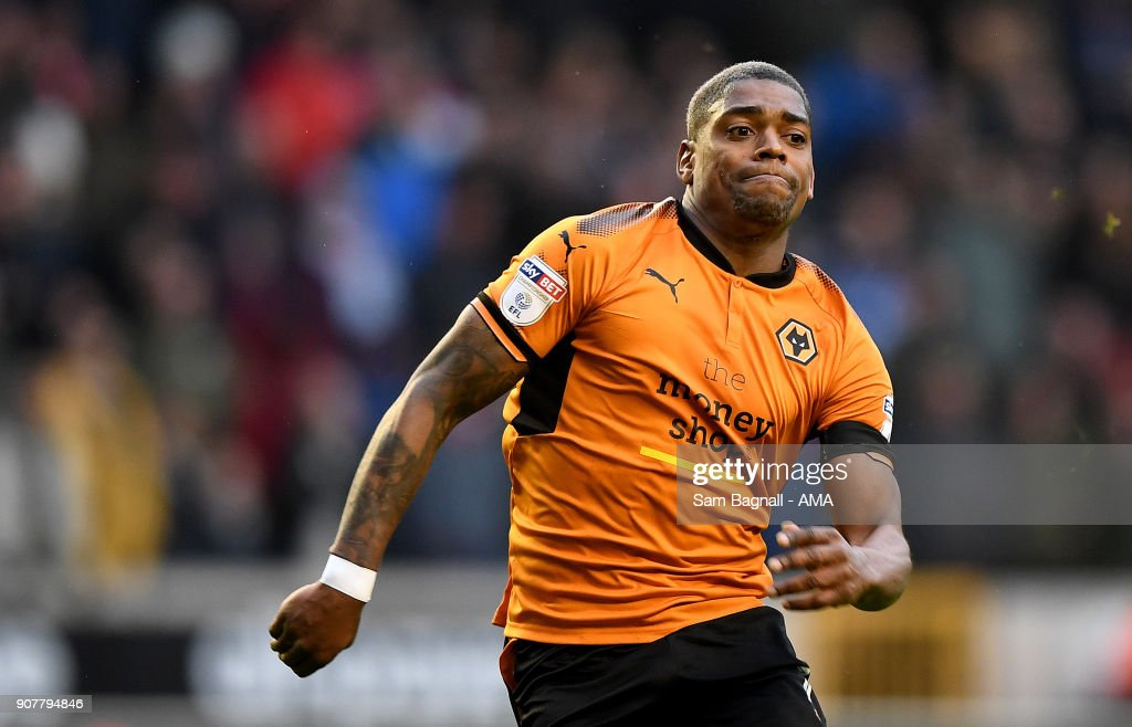 Ivan Cavaleiro of Wolverhampton Wanderers during the Sky Bet Championship match between Wolverhampton and Nottingham Forest at Molineux on January 20, 2018 in Wolverhampton, England.