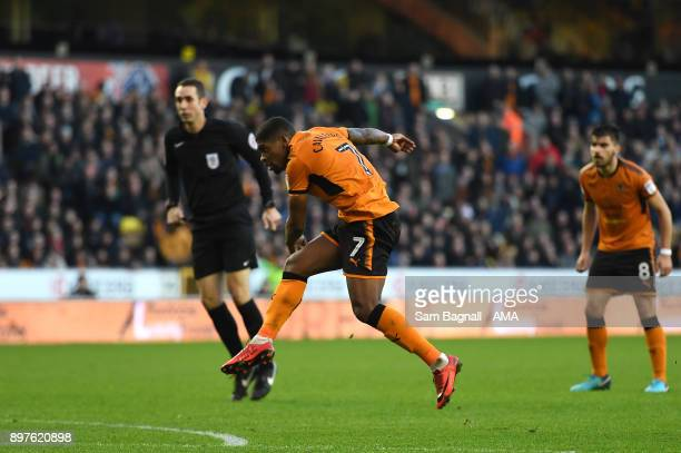 Ivan Cavaleiro of Wolverhampton Wanderers scores a goal to make it 10 during the Sky Bet Championship match between Wolverhampton and Ipswich Town at...