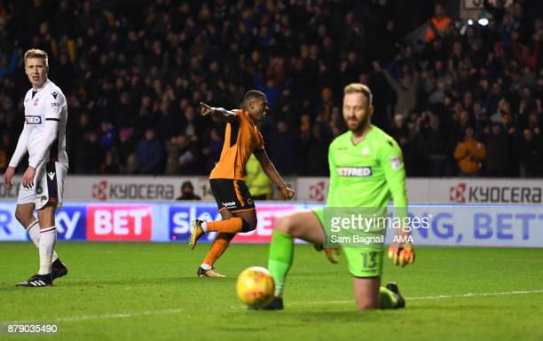 Ivan Cavaleiro of Wolverhampton Wanderers scores a goal to make it 41 during the Sky Bet Championship match between Wolverhampton and Bolton...