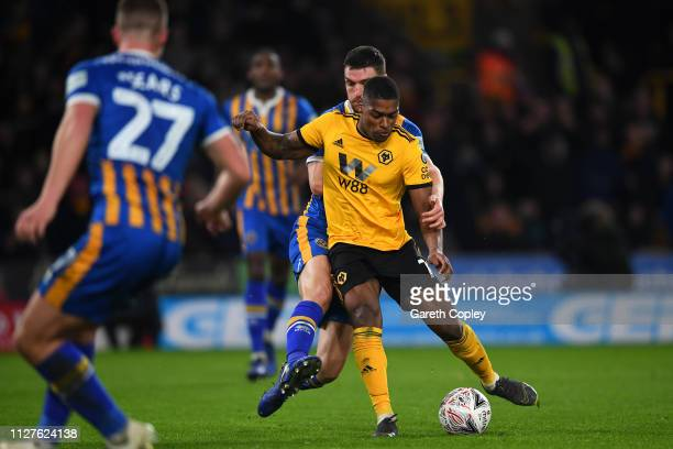 Ivan Cavaleiro of Wolverhampton Wanderers scores his side's third goal during the FA Cup Fourth Round Replay match between Wolverhampton Wanderers...
