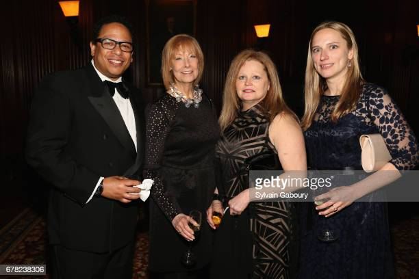 Ivan Chatman Jane Seamon Nancy Foster and Mimi Bradley attend 2017 ICAA Arthur Ross Awards at The University Club on May 1 2017 in New York City