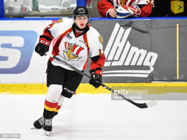 Ivan Chekhovich of the BaieComeau Drakkar skates against the BlainvilleBoisbriand Armada during the QMJHL game at Centre d'Excellence Sports Rousseau...