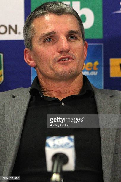 Ivan Cleary coach of the Panthers at the press conference during the round 9 NRL match between the Newcastle Knights and the Penrith Panthers at...