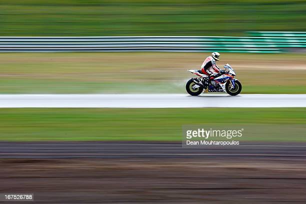 Ivan Clementi of Italy on the BMW S1000 RR for HTM Racing competes during the World Superbikes Practice Session at TT Circuit Assen on April 26 2013...