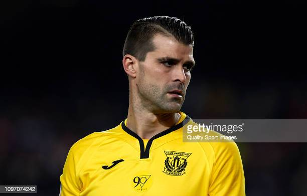 Ivan Cuellar of CD Leganes looks on during the La Liga match between FC Barcelona and CD Leganes at Camp Nou on January 20 2019 in Barcelona Spain