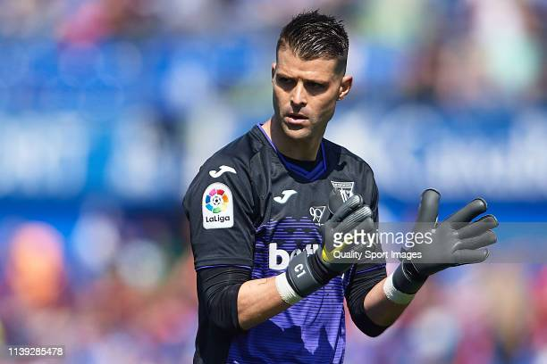 Ivan Cuellar of CD Leganes reacts during the La Liga match between Getafe CF and CD Leganes at Coliseum Alfonso Perez on March 30 2019 in Getafe Spain