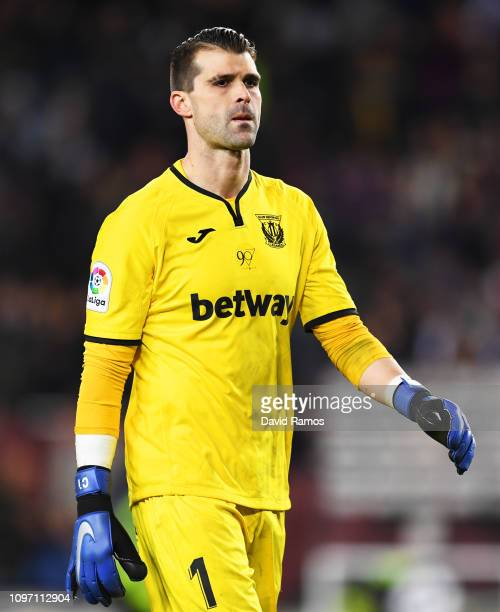 Ivan Cuellar of Leganes looks dejected during the La Liga match between FC Barcelona and CD Leganes at Camp Nou on January 20 2019 in Barcelona Spain