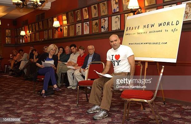 Ivan Davila during Brave New World American Theatre Responds to 9/11 Open Rehearsal Presentation at Sardi's in New York City New York United States