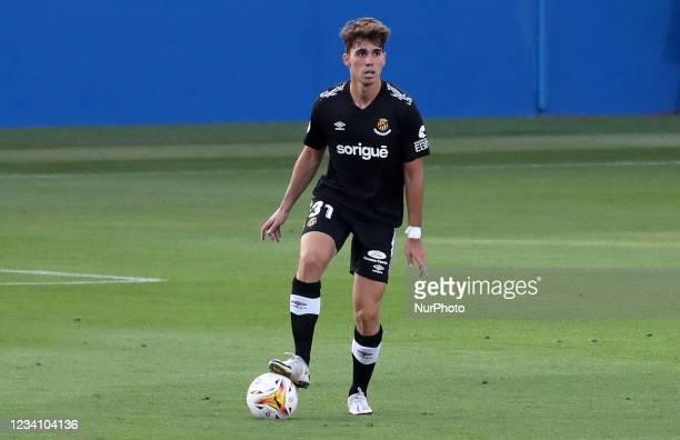 Ivan De la Pena Jr, son of former player Ivan De la Pena, during the friendly match between FC Barcelona and Club Gimnastic de Tarragona, played at...