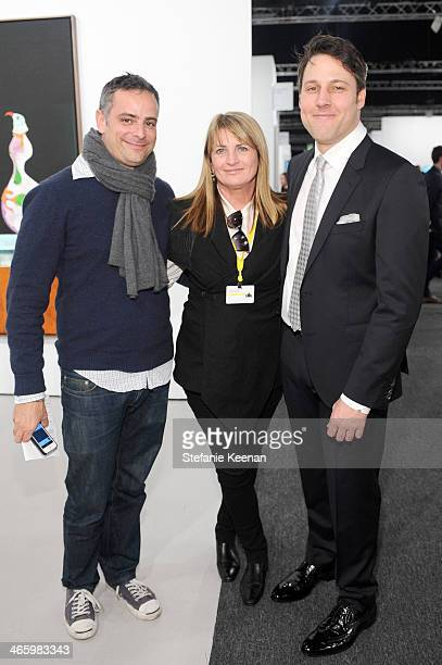 Ivan Fatovic Marilyn Heston and Art Los Angeles Contemporary director Tim Fleming attend the Art Los Angeles Contemporary 2014 opening night at...