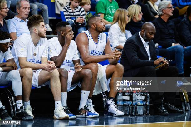 Ivan Fevrier Frederic Loubaki and Boris Diaw of Levallois during the Pro A match between Levallois and Limoges on October 7 2017 in LevalloisPerret...