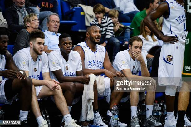 Ivan Fevrier FRederic Loubaki Boris Diaw and Remi Lesca of Levallois during the Pro A match between Levallois and Limoges on October 7 2017 in...