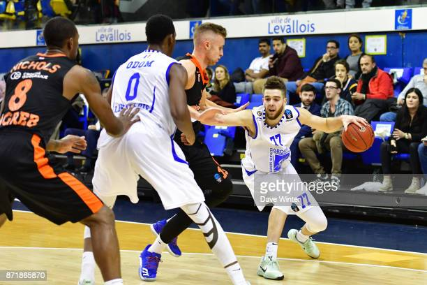 Ivan Fevrier of Levallois during the EuropCup match between Levallois Metropolitans and Cedevita Zagreb at Salle Marcel Cerdan on November 8 2017 in...