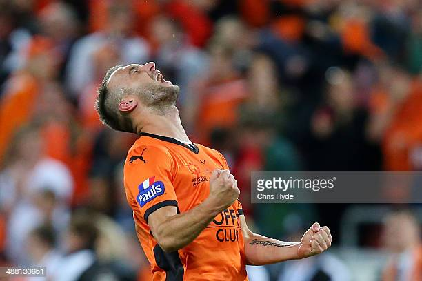Ivan Franjic of the Roar celebrates winning the 2014 A-League Grand Final match between the Brisbane Roar and the Western Sydney Wanderers at Suncorp...