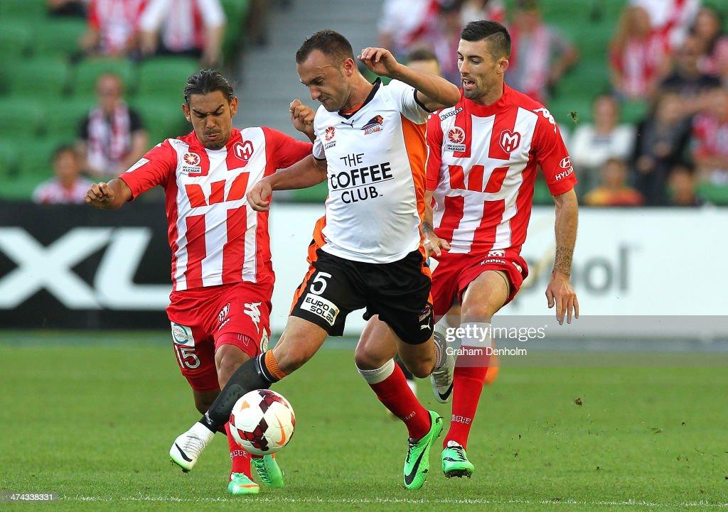 A-League Rd 20 - Melbourne v Bribane : News Photo