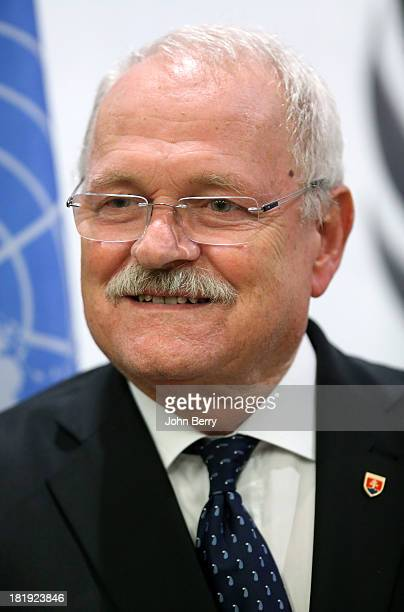 Ivan Gasparovic President of the Slovak Republic attends the 68th session of the United Nations General Assembly on September 25 2013 in New York City