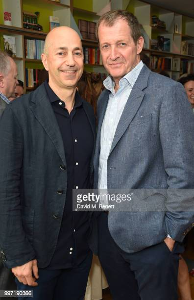 Ivan Gazidis and Alastair Campbell attend the launch of new book 'Ctrl Alt Delete' by Tom Baldwin at Ink 84 on July 12 2018 in London England