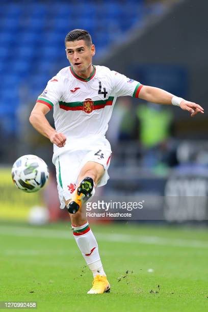 Ivan Goranov of Bulgaria in action during the UEFA Nations League group stage match between Wales and Bulgaria at Cardiff City Stadium on September...