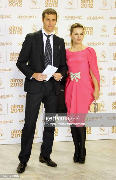 Ivan Helguera and Lorena Casado attend 'Alma Awards' by Real Madrid Foundation at Palacio Municipal de Congresos on March 9, 2012 in Madrid, Spain.