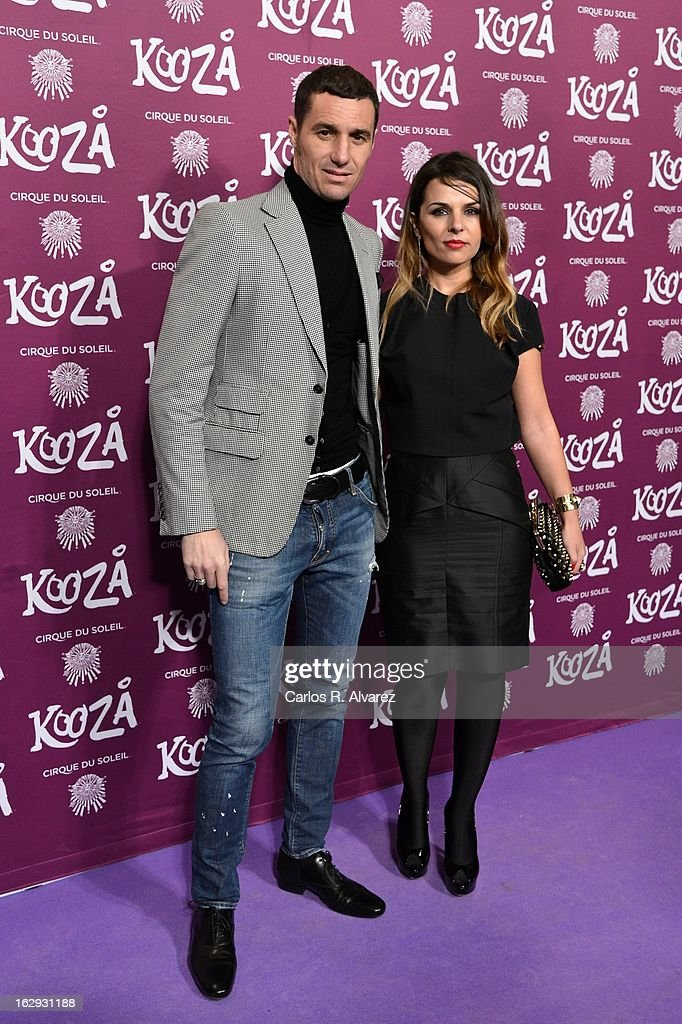 Ivan Helguera and Lorena Casado attend 'Cirque Du Soleil' Kooza 2013 premiere on March 1, 2013 in Madrid, Spain.