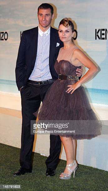 Ivan Helguera and Lorena Casado attend Kenzo Summer Party at Green Canal Golf on June 5, 2012 in Madrid, Spain.