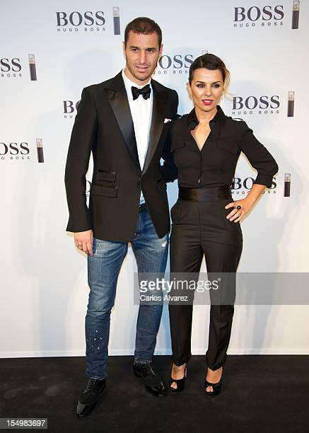 """Ivan Helguera and Lorena Casado attend the new """"Boss Nuit Pour Femme"""" Hugo Boss parfum presentation at the Neptuno Palace on October 29, 2012 in..."""