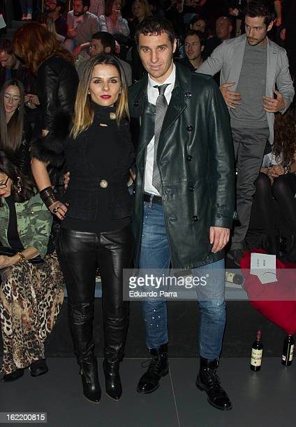 Ivan Helguera and Lorena Casado attends a fashion show during the Mercedes Benz Fashion Week Madrid Fall/Winter 2013/14 at Ifema on February 20, 2013...