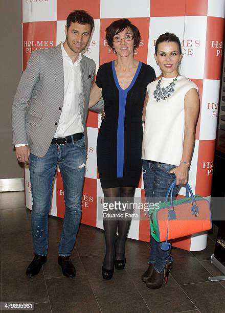 Ivan Helguera, Lola Gonzalez and Lorena Casado attend 'iDance' opening photocall at Holmes Palace on March 21, 2014 in Madrid, Spain.