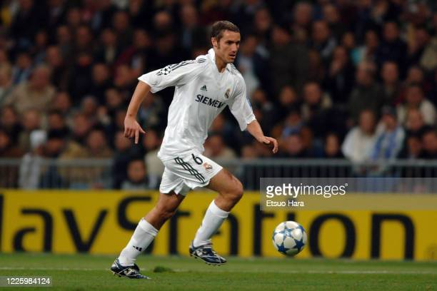 Ivan Helguera of Real Madrid in action during the UEFA Champions League Group F match between Real Madrid and Olympique Lyonnais at the Estadio...