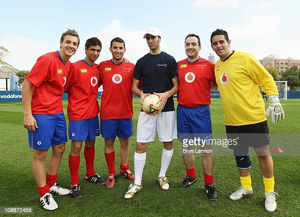 Ivan Helguera poses during the Laureus Football Challenge presented by IWC Schaffhausen as part of the 2011 Laureus World Sports Awards at the...