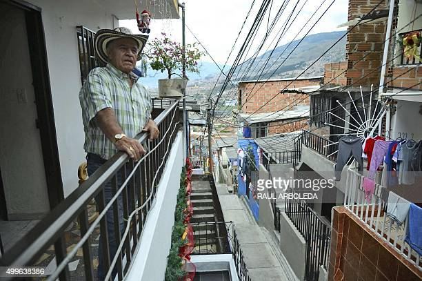 Ivan Hernandez is seen at his home in the Pablo Escobar neighborhood in Medellin, Colombia, on December 2, 2015. 22 years after his death, Escobar is...