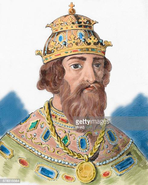Ivan IV Vasilyevich , known as Ivan the Terrible. Grand Prince of Moscow and Tsar of All the Russias . Portrait. Engraving. Colored.