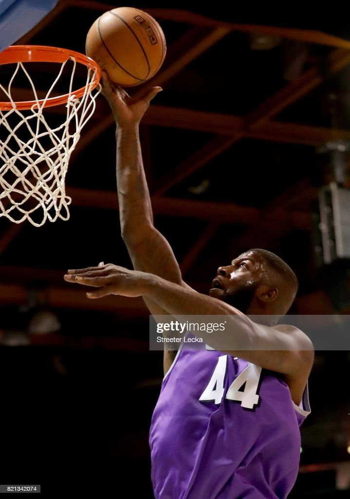 Ivan Johnson #44 of the Ghost Ballers attempts a shot against the Killer 3s during week five of the BIG3 three on three basketball league at UIC Pavilion on July 23, 2017 in Chicago, Illinois.
